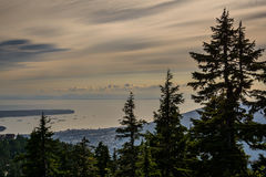 View of Vancouver from Graus Mountain. A high angle view of Graus Mountain Royalty Free Stock Photos