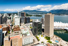 View from Vancouver Lookout Harbour Centre Tower. Stock Images