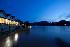 View of Vang Vieng Stock Photography