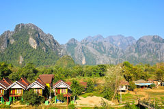 View of Vang Vieng Stock Images