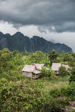 View of Vang Vieng Karst Hills Stock Images