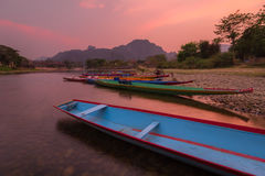View of Vang vieng at Laos. Summer Season royalty free stock images