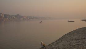 View on Varanasi city Royalty Free Stock Images