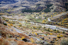 A view from Vardzia cave city monastery Royalty Free Stock Images
