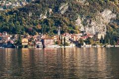 View of Varenna town. Lake and mountains. Como Lake, Italy Royalty Free Stock Photography