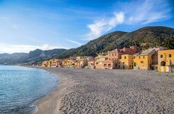 View of Varigotti Beach, Savona, Ligurian coast, Italy. royalty free stock photo