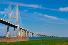 View of the Vasco da Gama bridge Royalty Free Stock Photography