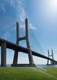 View of Vasco da Gama bridge in Lisbon Royalty Free Stock Images
