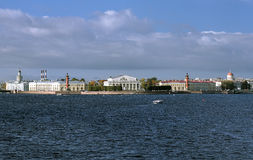 View of Vasilievsky island in Saint Petersburg Royalty Free Stock Images