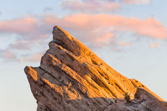 View of Vasquez Rocks at Sunset Royalty Free Stock Photos