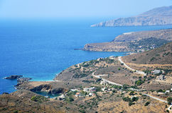 View from Vathia Mani, Greece Royalty Free Stock Images