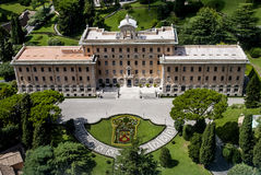 View from Vatican above House and Garden of Pope Stock Photography