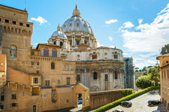 View of the Vatican with basilica of St Peter Royalty Free Stock Images