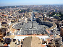 View of Vatican City. From St. Peter's Basilica royalty free stock photo
