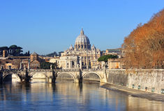 View at Vatican City and Sant'Angelo's Bridge Stock Image