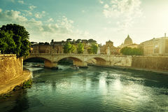 View of the Vatican at sunset time Royalty Free Stock Photography