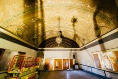 Vaulted Lobby - Abandoned Variety Theater - Cleveland, Ohio stock photo