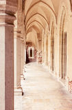 View of vaulted corridor and marble floor Stock Photography