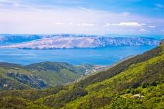 View from Velebit mountain on Senj Stock Photo