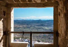 View from Velez Blanco Castle Stock Photos