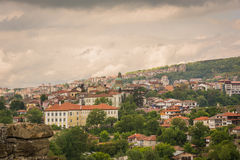 View of Veliko Tarnovo. View of the historic town of Veliko Tarnovo and surrounding mountains, Bulgaria Royalty Free Stock Photography