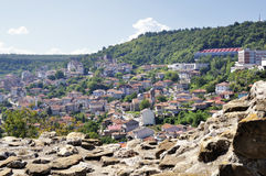 View from Veliko Tarnovo, medieval town in Bulgaria Stock Photos