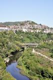 View from Veliko Tarnovo, medieval town in Bulgaria Royalty Free Stock Photos