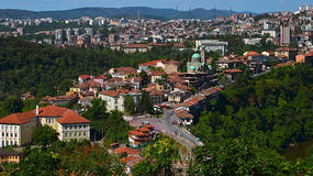 View on Veliko Tarnovo. Nice cityscape from hill Tsarevets Royalty Free Stock Photo