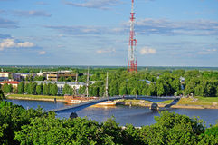 View of the Veliky Novgorod from a height Royalty Free Stock Photography