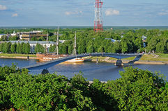View of the Veliky Novgorod from a height Royalty Free Stock Images