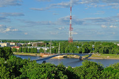 View of the Veliky Novgorod from a height Royalty Free Stock Photo