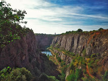 View on Velka Amerika canyon in Czech stock photos