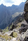 View from Velka Lomnicka veza - peak in High Tatras, Slovakia Royalty Free Stock Photography