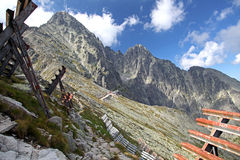 View from Velka Lomnicka veza - peak in High Tatras, Slovakia Royalty Free Stock Photos