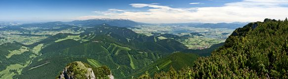 View from Velky Chocz, Slovakia Royalty Free Stock Photo
