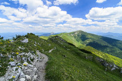 View on Velky and Maly Rozsutec in National park Mala Fatra Stock Photo