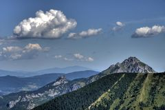 View on Velky Rozsutec mountain Royalty Free Stock Image