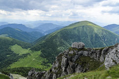 View from Velky Rozsutec  peak Stock Images