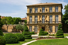 View of the Vendome Pavilion. A museum in France's Aix-en-Provence Royalty Free Stock Images
