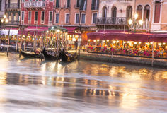 View of Venetian architecture during sunset. Stock Photo