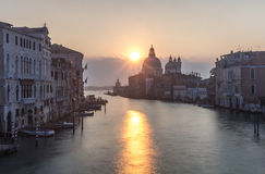 View of Venetian architecture during sunset. Royalty Free Stock Photo