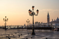 View of Venetian architecture during sunset. Stock Image