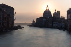 View of Venetian architecture during sunset. Royalty Free Stock Images