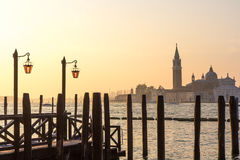 View of Venetian architecture during sunset. Stock Photos
