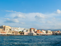 View of venetian bay in Chania Royalty Free Stock Photo