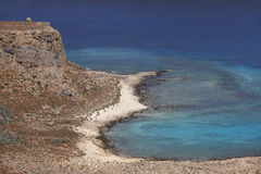 View from venetian castle at Imeri Gramvousa Bay. Crete. Greece Royalty Free Stock Photo