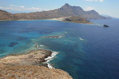 View from venetian castle at Imeri Gramvousa Bay. Crete. Greece Stock Photo