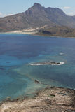 View from venetian castle at Imeri Gramvousa Bay. Crete. Greece Stock Photography