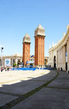 View of the Venetian towers in the Plaza of Spain Stock Photography
