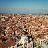 View of Venezia to the north west from San Marco Campanile. Royalty Free Stock Photography